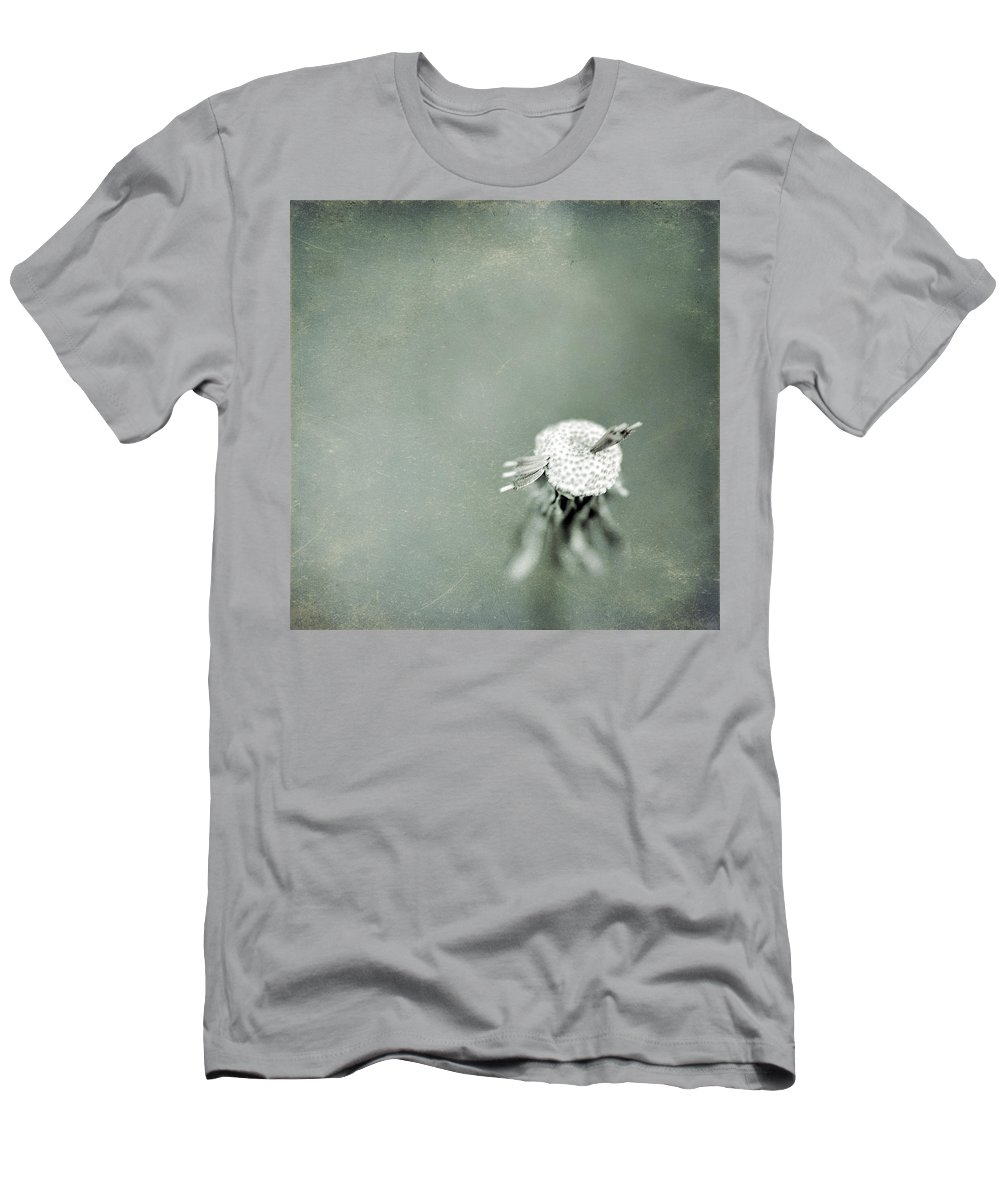 Dandelion Men's T-Shirt (Athletic Fit) featuring the photograph Wishful Thinking by Trish Mistric