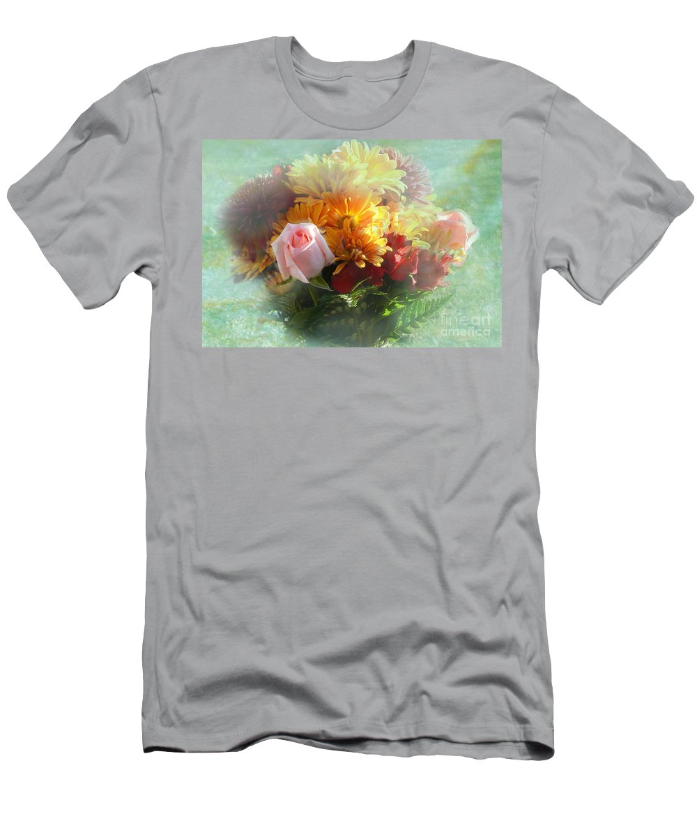 With Love Flower Bouquet Men's T-Shirt (Athletic Fit) featuring the photograph With Love Flower Bouquet by Luther Fine Art