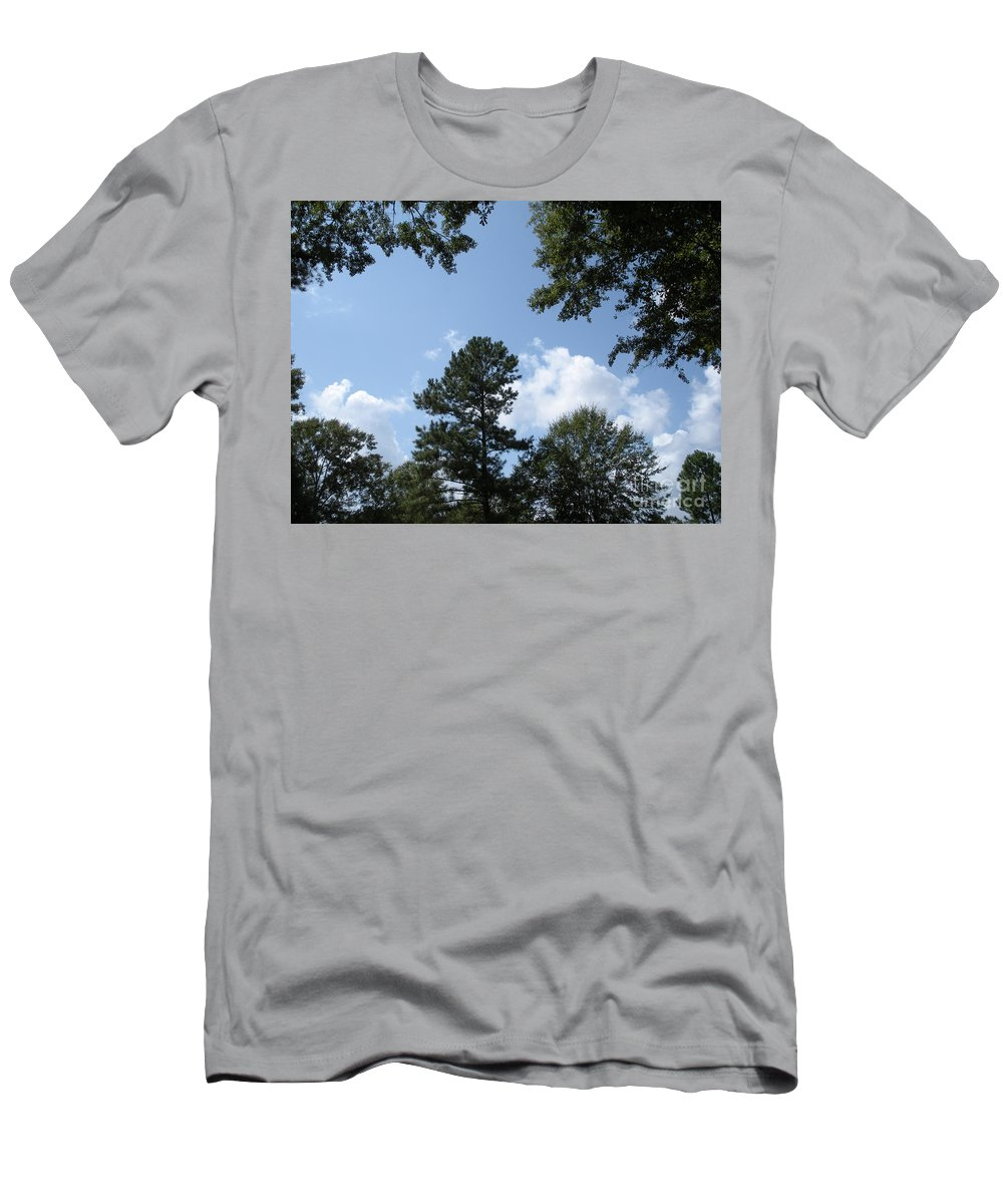 Woods Men's T-Shirt (Athletic Fit) featuring the photograph Wooded Forest by Joseph Baril