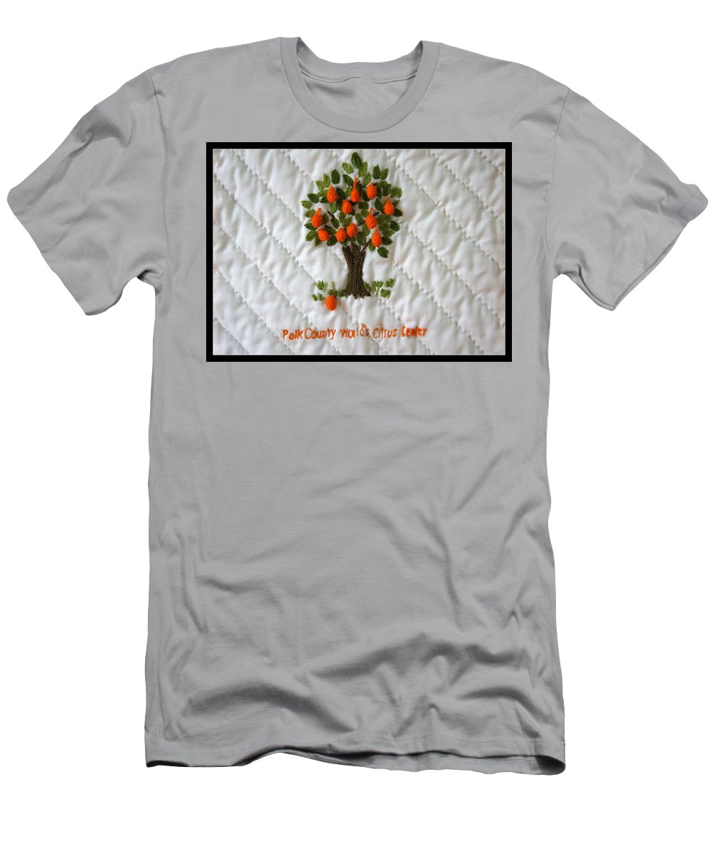 Orange Men's T-Shirt (Athletic Fit) featuring the photograph World Citrus Center by Laurie Perry