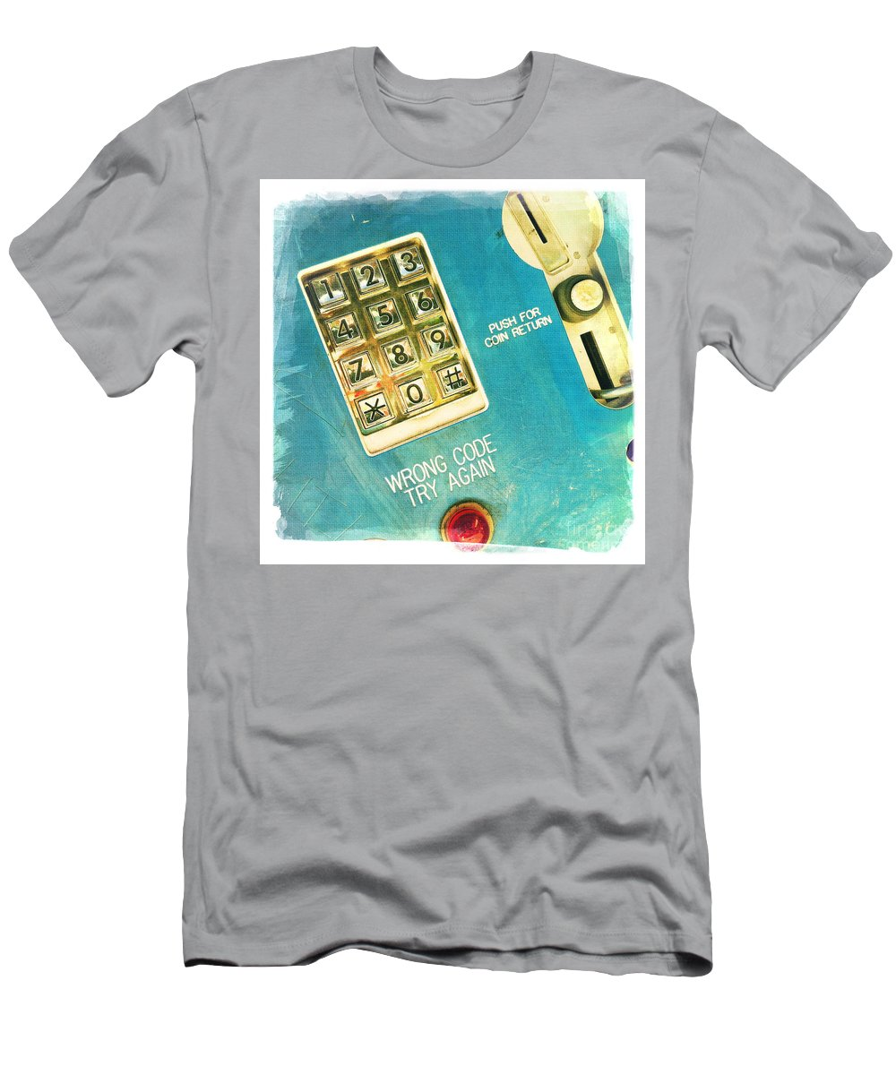 Wrong Code Men's T-Shirt (Athletic Fit) featuring the photograph Wrong Code by Nina Prommer