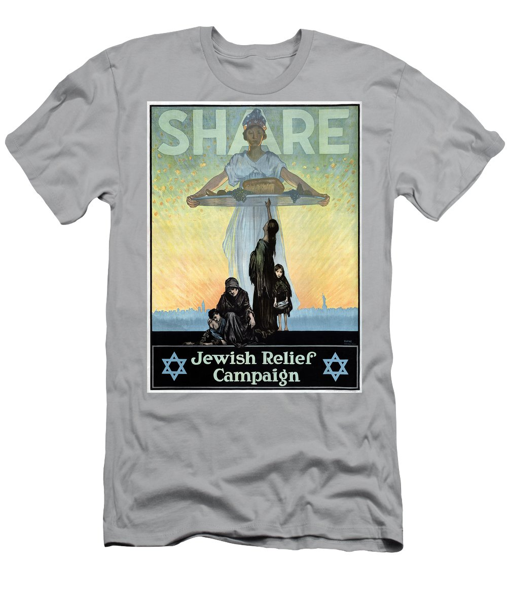 1917 Men's T-Shirt (Athletic Fit) featuring the painting Wwi Jewish Relief Campaign by Granger