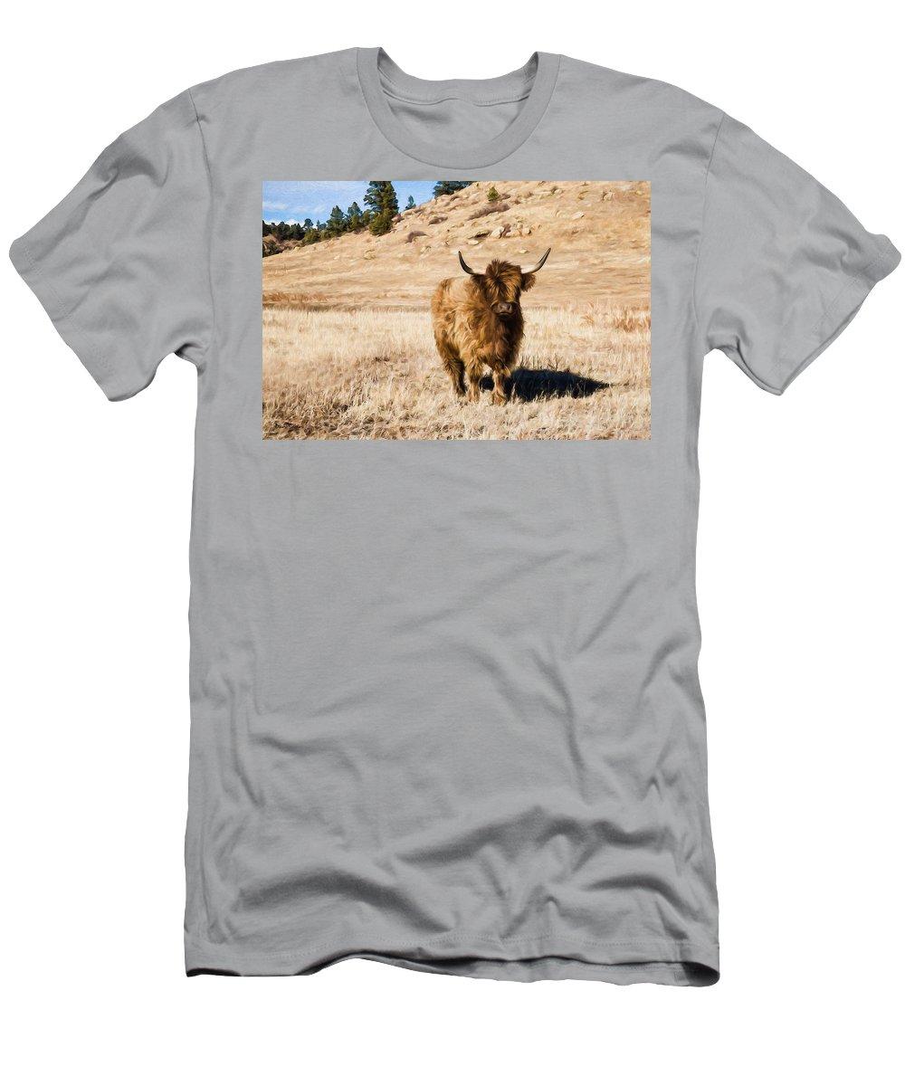 Dan Sabin Men's T-Shirt (Athletic Fit) featuring the photograph Yak Attack by Dan Sabin