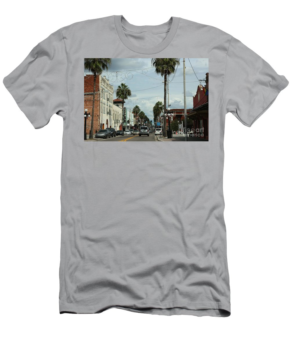 Ybor City Men's T-Shirt (Athletic Fit) featuring the photograph Ybor City by Carol Groenen
