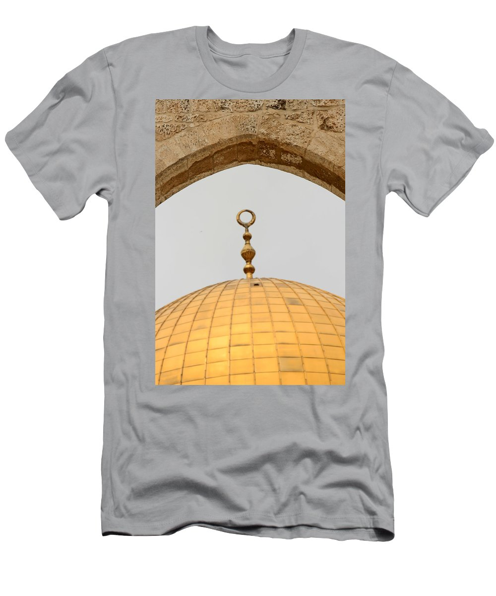 Yellow Men's T-Shirt (Athletic Fit) featuring the photograph Yellow Dome by Munir Alawi