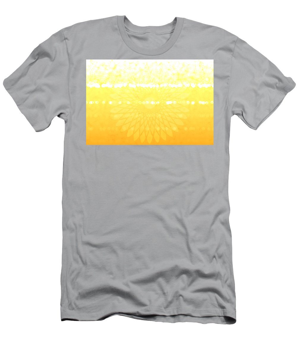 Sunny Day Men's T-Shirt (Athletic Fit) featuring the digital art Yellow Spirograph by Chastity Hoff