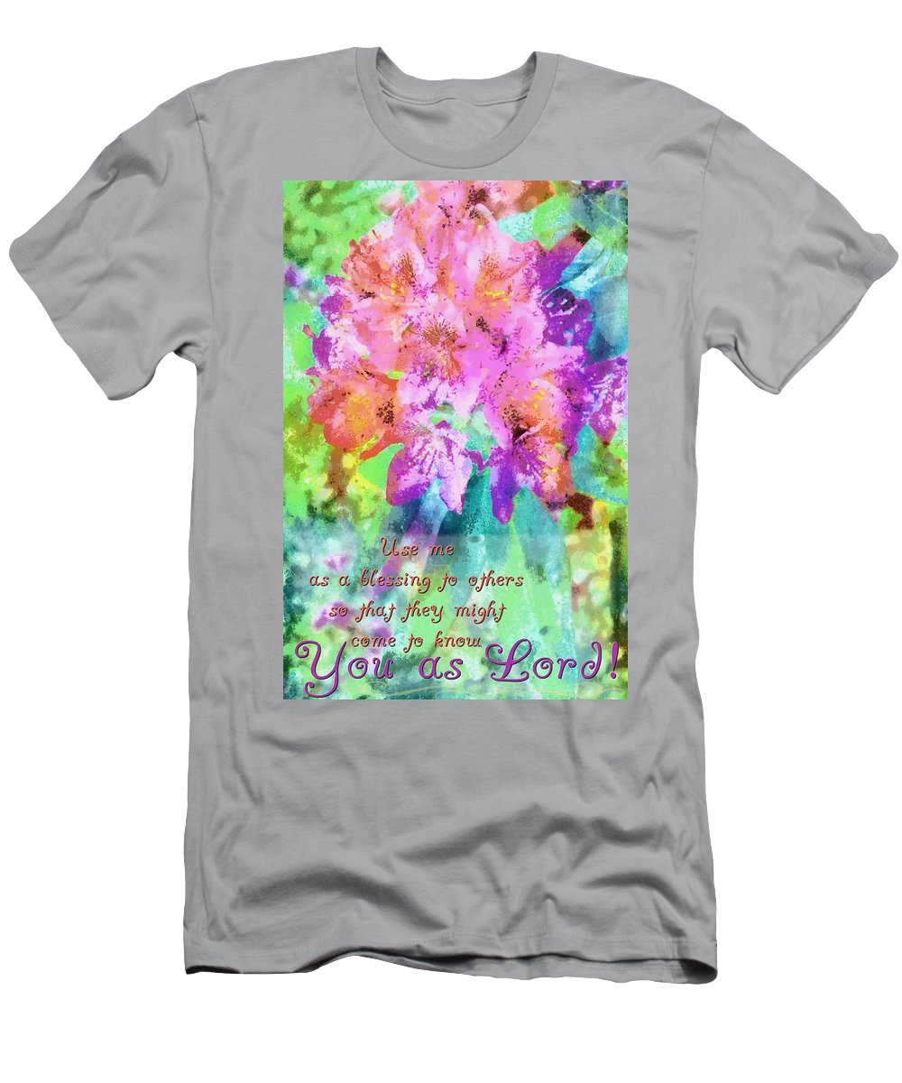 Jesus Men's T-Shirt (Athletic Fit) featuring the digital art You As Lord by Michelle Greene Wheeler