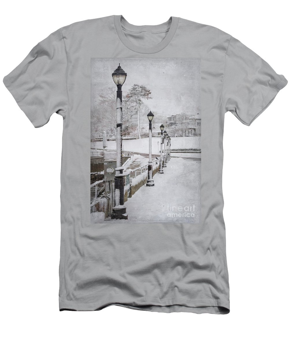 Bar Harbor Men's T-Shirt (Athletic Fit) featuring the photograph You'll Never Walk Alone by Evelina Kremsdorf