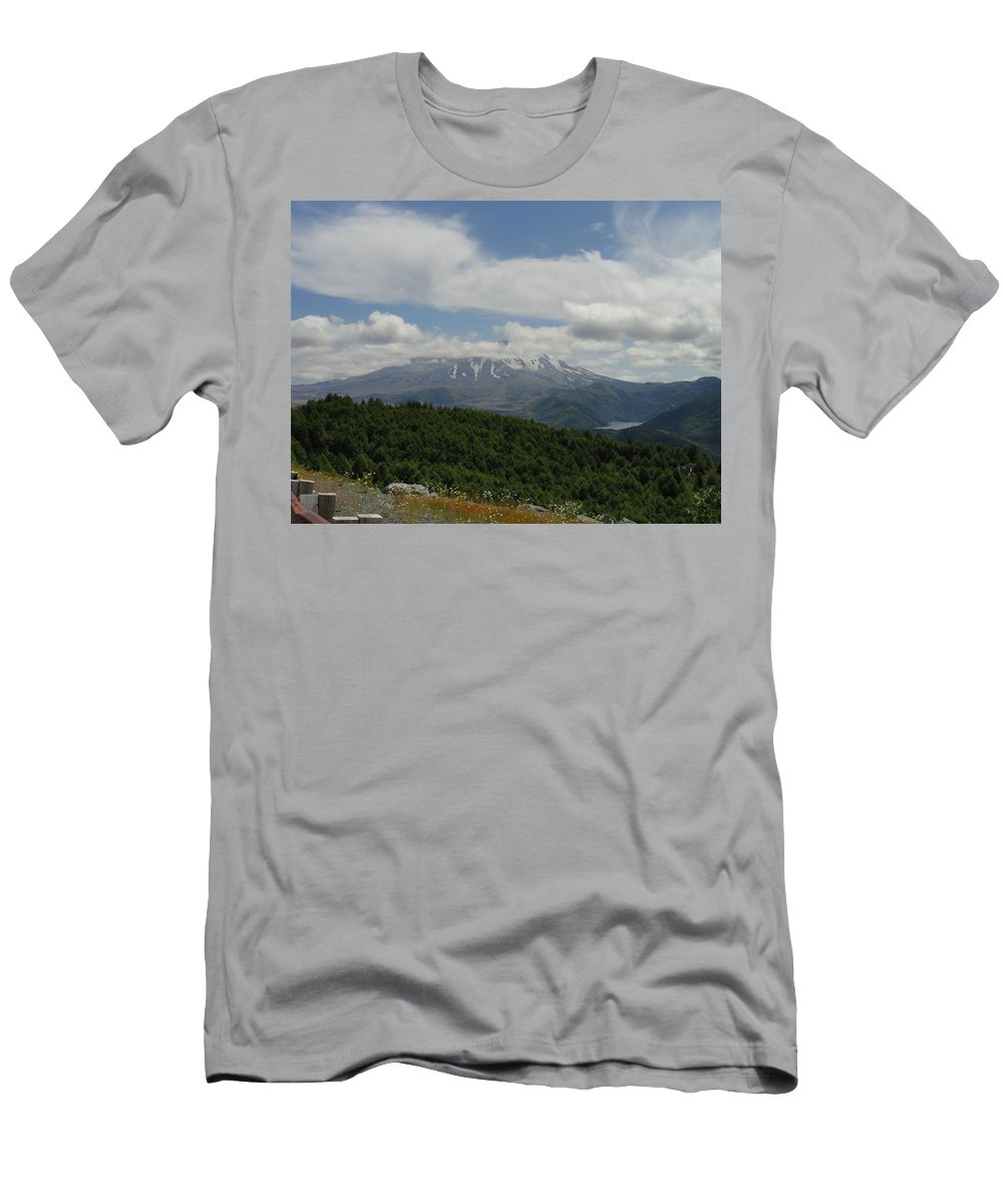 Photos Of Mt St Helens Photographs Men's T-Shirt (Athletic Fit) featuring the photograph Fujiyama Of America by Christy Leigh
