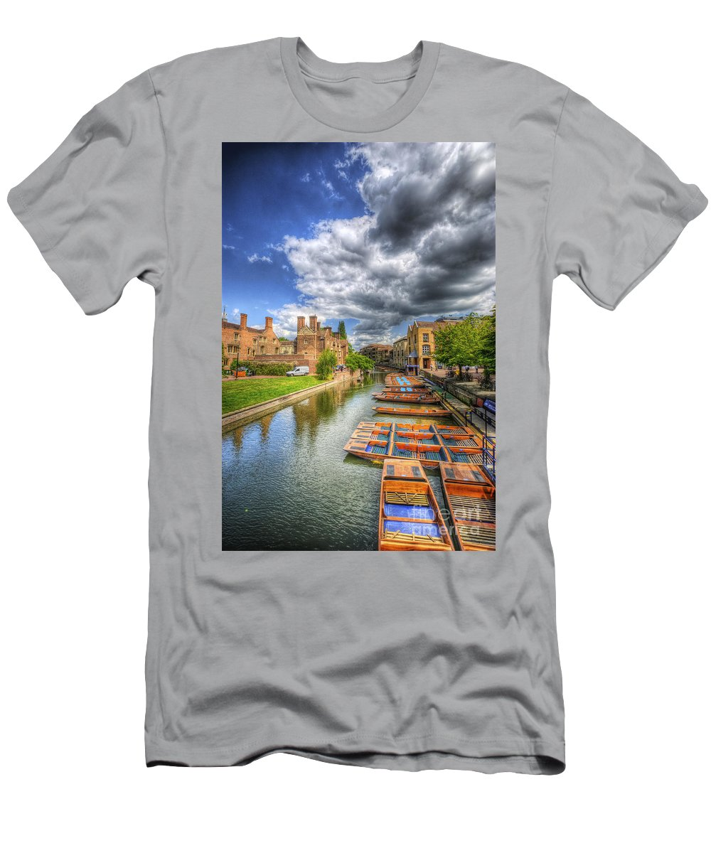 Art Men's T-Shirt (Athletic Fit) featuring the photograph River Cam - Cambridge by Yhun Suarez