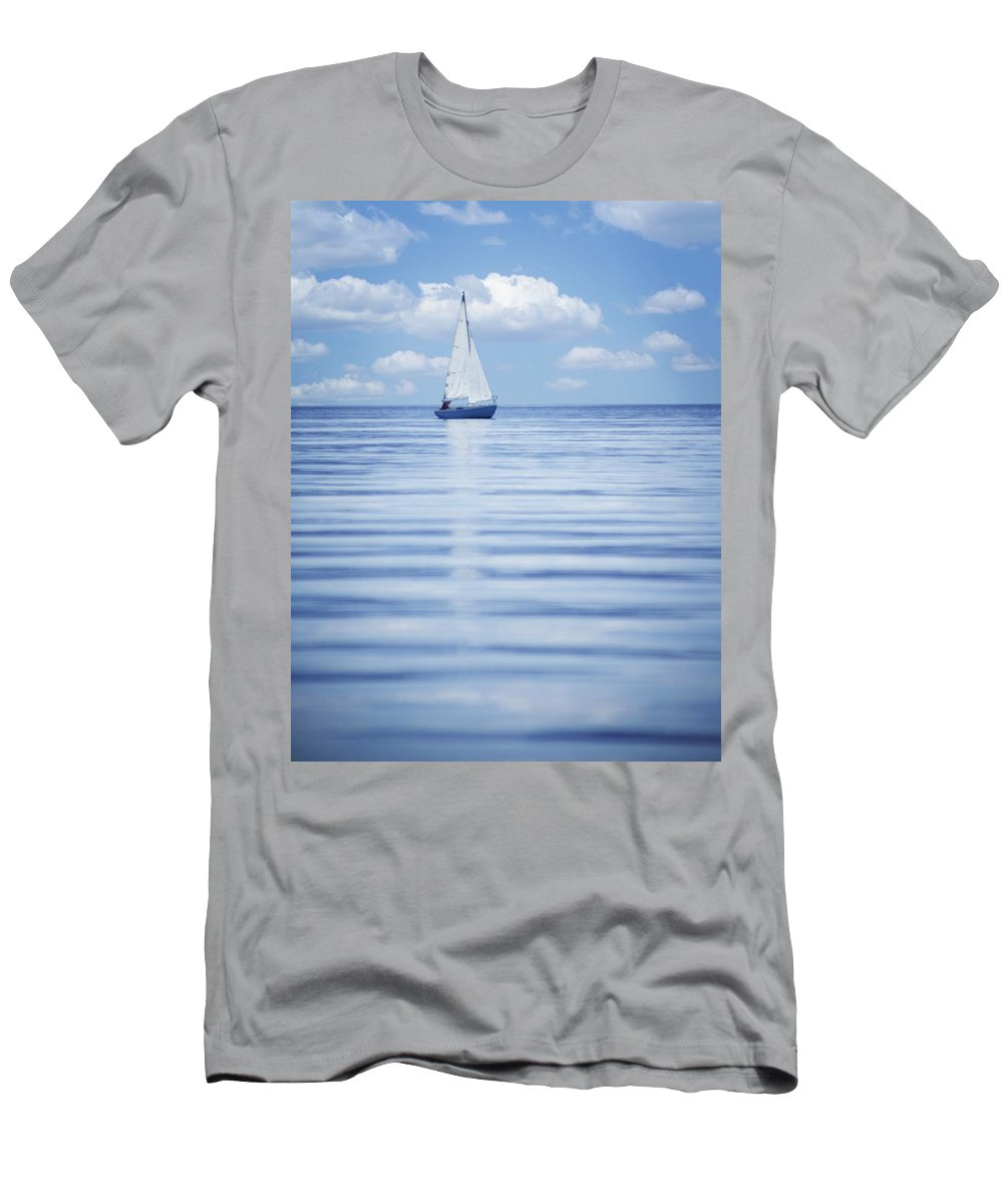 British Columbia Men's T-Shirt (Athletic Fit) featuring the photograph A Sailboat by Kelly Redinger