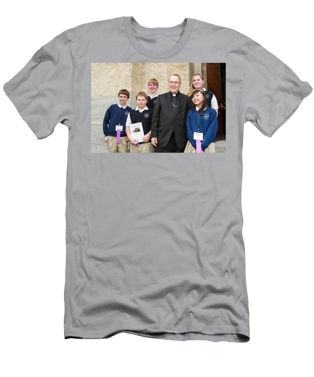 Archbishop Brunett Men's T-Shirt (Athletic Fit) featuring the photograph Archbishop Alex Brunett by Mike Penney