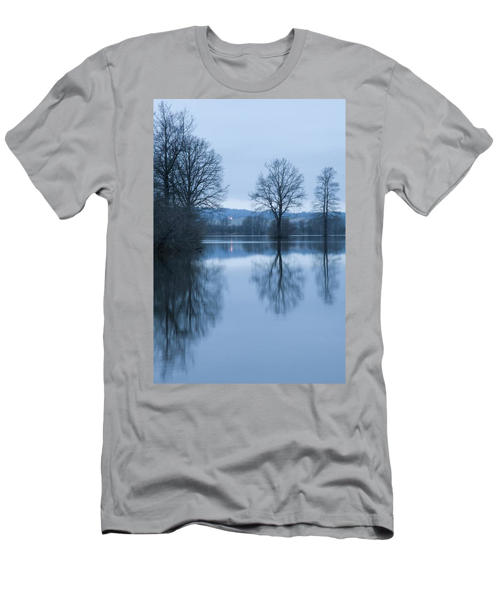 Planina Men's T-Shirt (Athletic Fit) featuring the photograph Blue Dawn by Ian Middleton