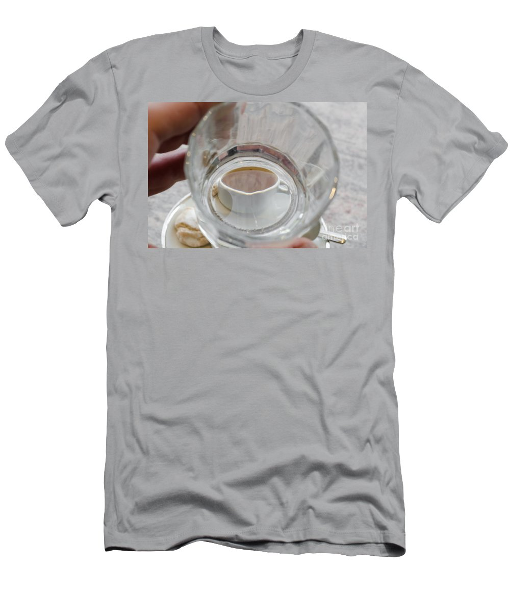 Cup Men's T-Shirt (Athletic Fit) featuring the photograph Cup Of Coffee by Mats Silvan