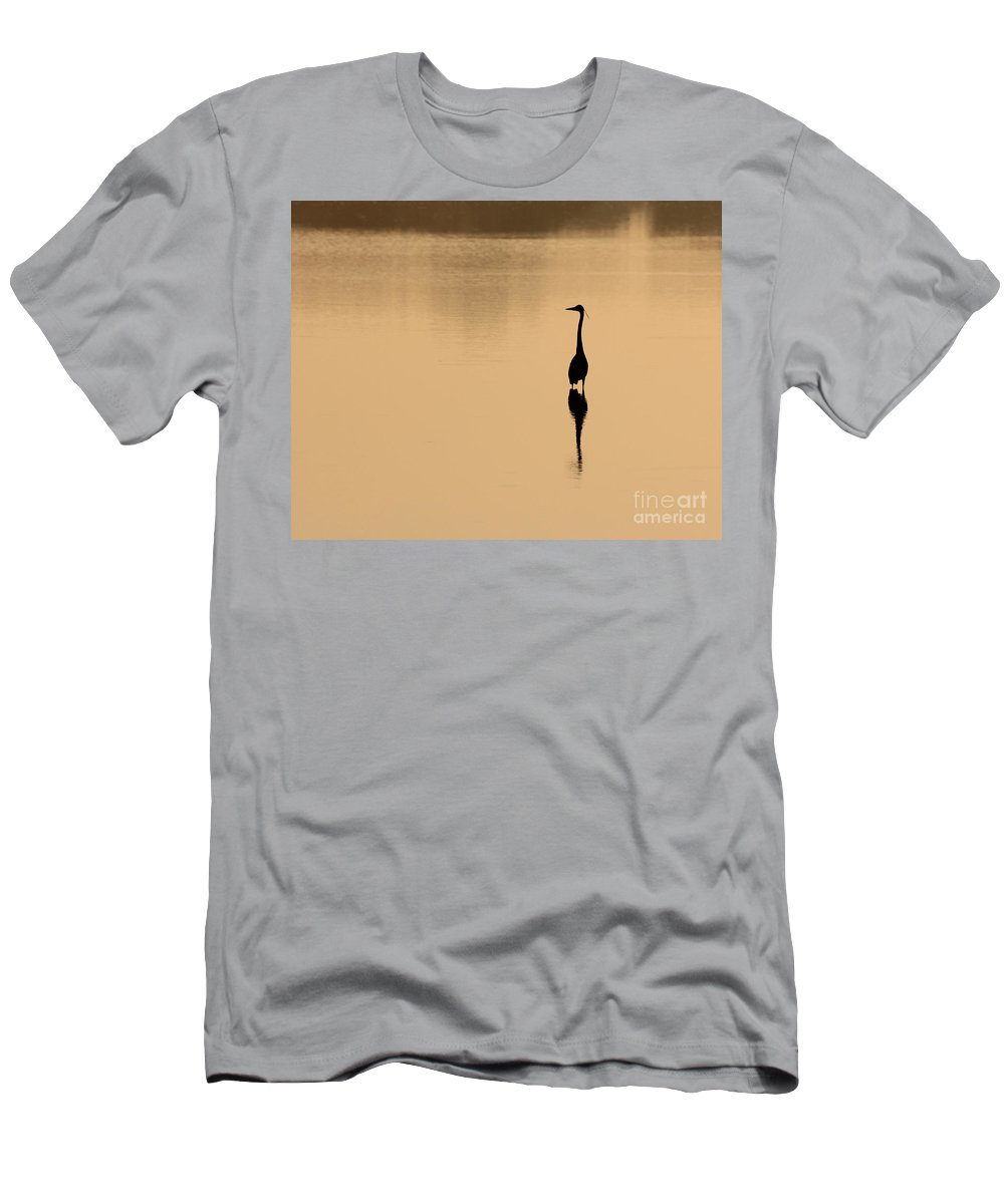 Heron Men's T-Shirt (Athletic Fit) featuring the photograph Early Riser by Jack Schultz