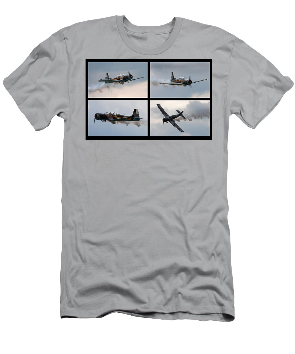 Airplane Men's T-Shirt (Athletic Fit) featuring the photograph Flight by Betsy Knapp