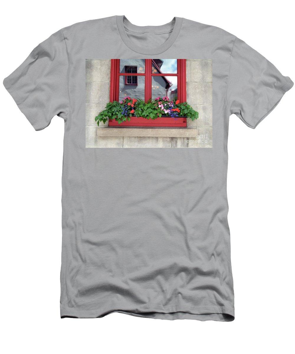 Flower Pots Men's T-Shirt (Athletic Fit) featuring the photograph Flower Pots ...... 13 by Allen Beatty