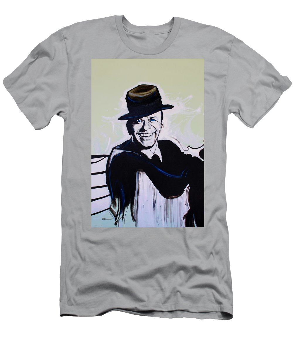 Frank Sinatra Men's T-Shirt (Athletic Fit) featuring the photograph Frank by Rob Hans