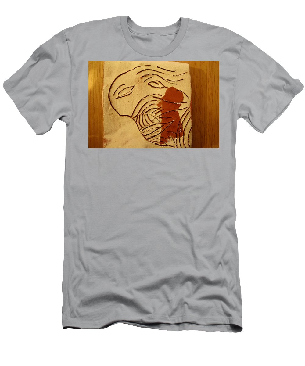 Jesus Men's T-Shirt (Athletic Fit) featuring the ceramic art Lost - Tile by Gloria Ssali