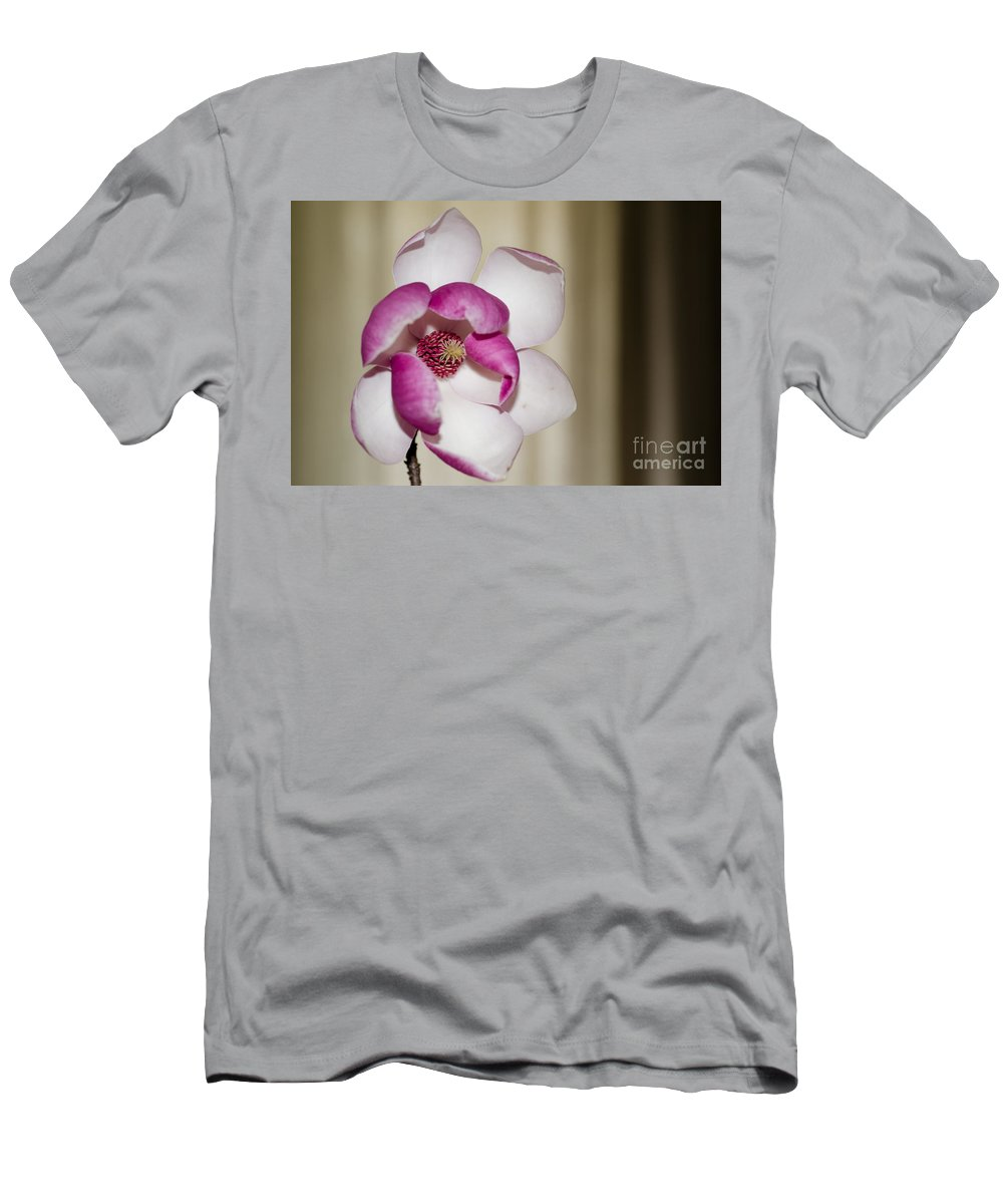 Flower Men's T-Shirt (Athletic Fit) featuring the photograph Magnolia Flower by Mats Silvan