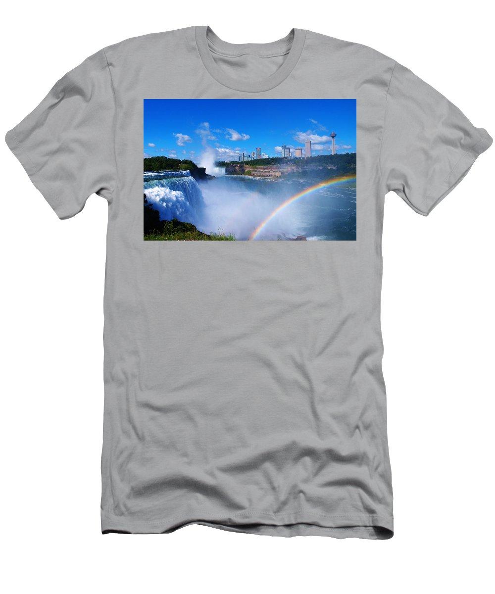 Niagara Men's T-Shirt (Athletic Fit) featuring the photograph Niagara Waterfalls by Paul Ge