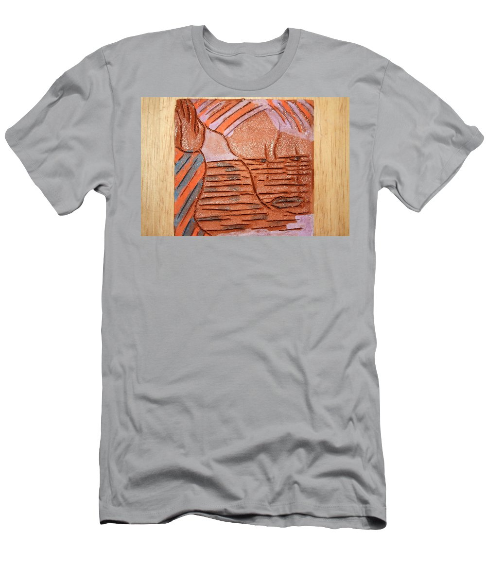 Jesus Men's T-Shirt (Athletic Fit) featuring the ceramic art Screen - Tile by Gloria Ssali