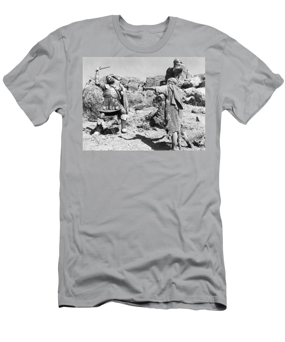 -biblical Subjects- Men's T-Shirt (Athletic Fit) featuring the photograph Silent Still: Biblical by Granger