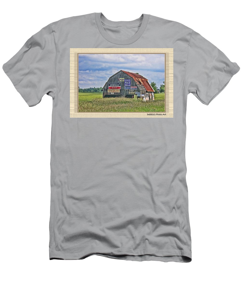 Landscape Men's T-Shirt (Athletic Fit) featuring the photograph Vote For Me II by Debbie Portwood