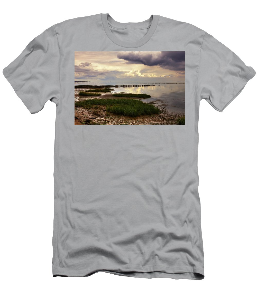 Wadden Sea Men's T-Shirt (Athletic Fit) featuring the photograph Kampen - Sylt by Joana Kruse