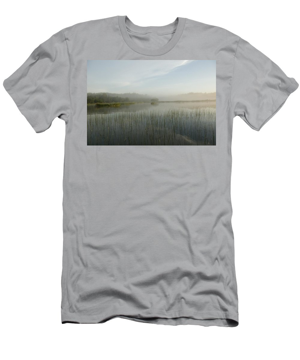 Calm Men's T-Shirt (Athletic Fit) featuring the photograph Lake Of The Woods, Ontario, Canada by Keith Levit