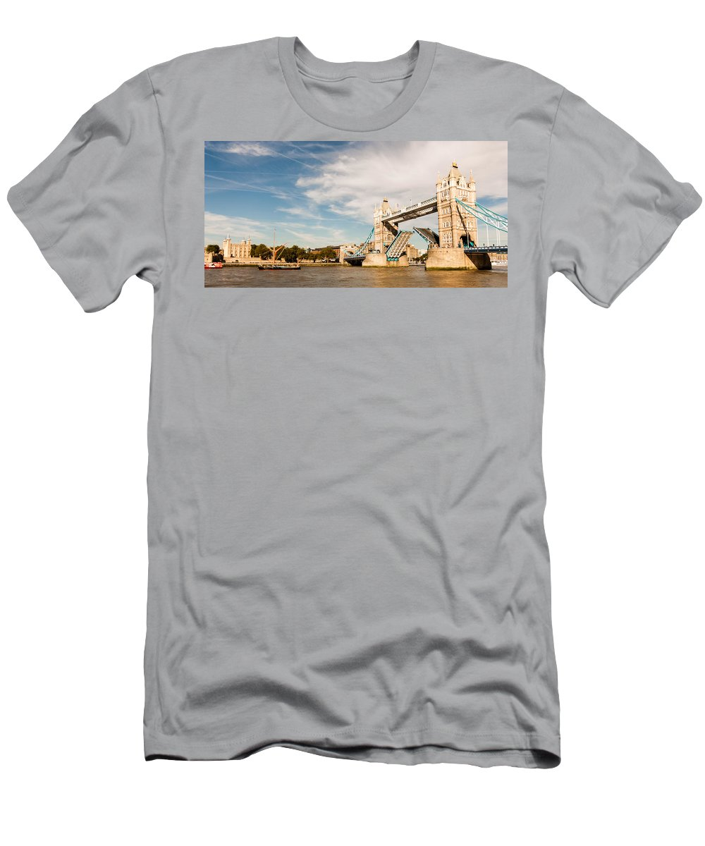 Tower Bridge Men's T-Shirt (Athletic Fit) featuring the photograph Tower Bridge by Dawn OConnor