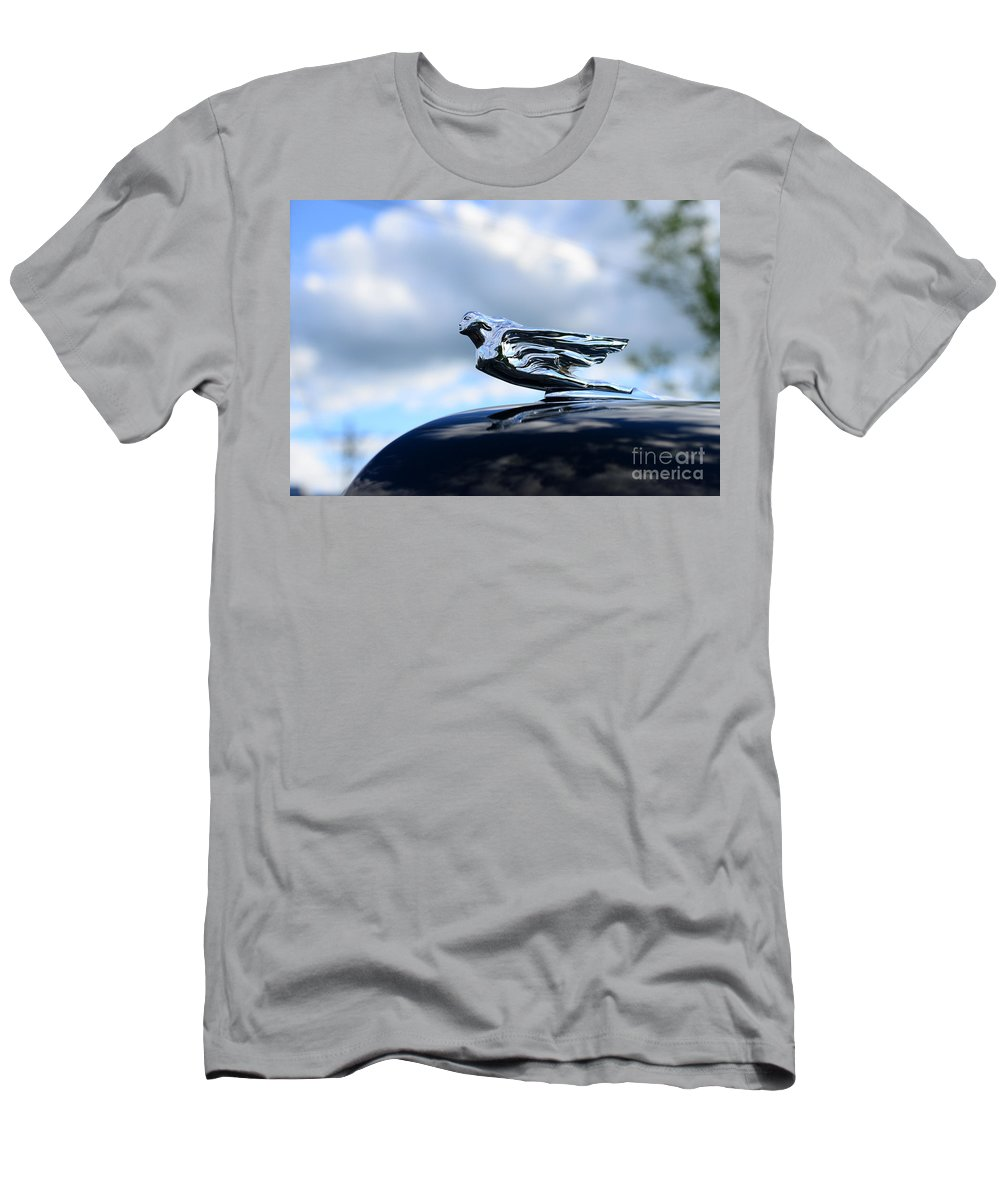 1941 Cadillac Hood Ornament - The Goddess Men's T-Shirt (Athletic Fit) featuring the photograph 1941 Cadillac Hood Ornament - The Goddess by Paul Ward