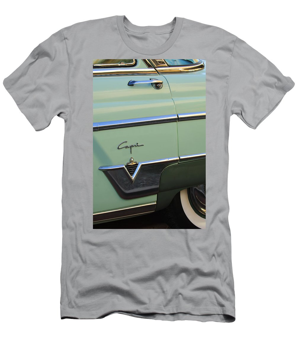 1954 Lincoln Capri Men's T-Shirt (Athletic Fit) featuring the photograph 1954 Lincoln Capri by Jill Reger
