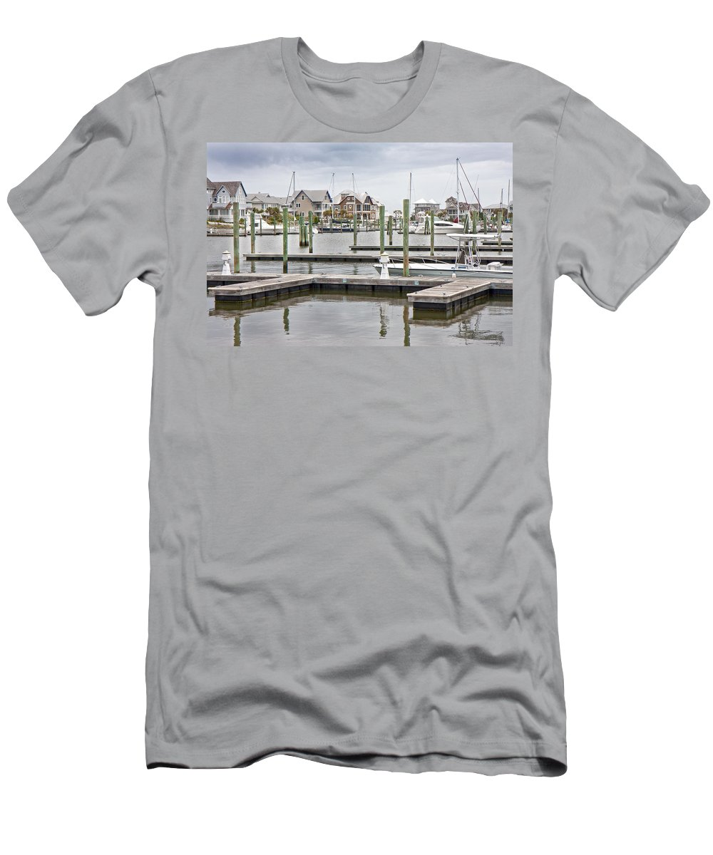 Bald Men's T-Shirt (Athletic Fit) featuring the photograph Bald Head Island Marina by Betsy Knapp