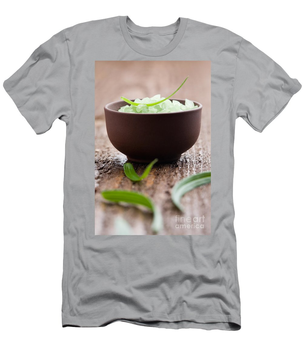 Bath Men's T-Shirt (Athletic Fit) featuring the photograph Bath Salt by Kati Finell