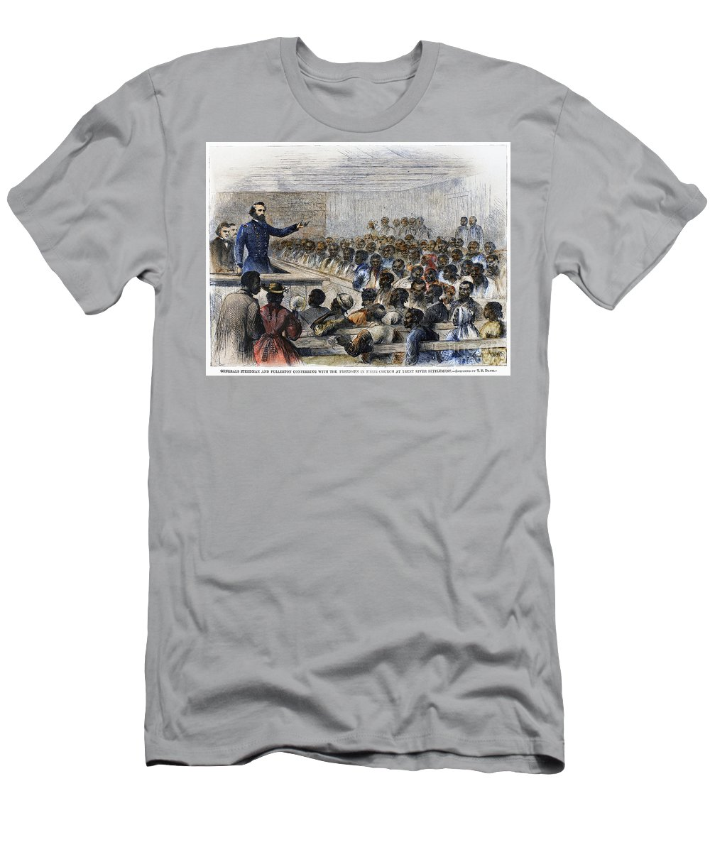 1866 Men's T-Shirt (Athletic Fit) featuring the photograph Freedmens Village, 1866 by Granger