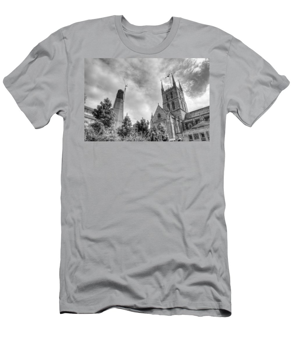 Shard T-Shirt featuring the photograph New and Old by Chris Day