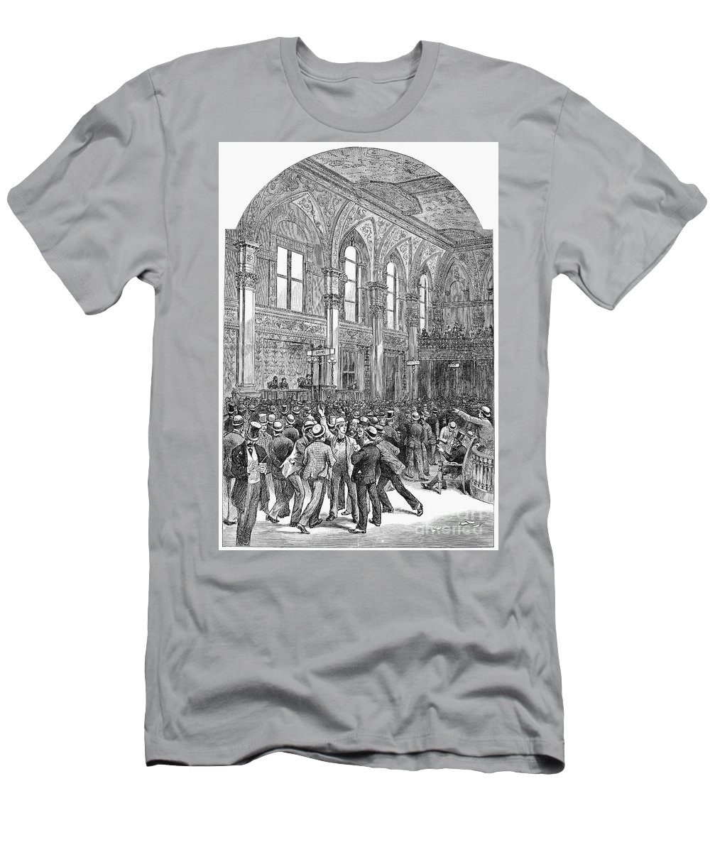 1881 Men's T-Shirt (Athletic Fit) featuring the photograph New York Stock Exchange by Granger
