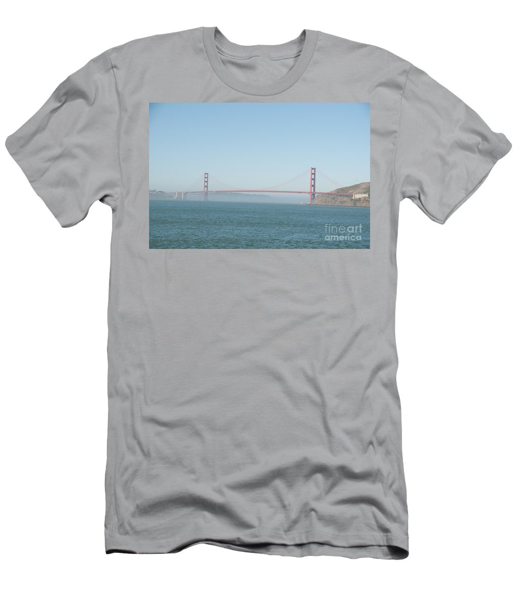 California Men's T-Shirt (Athletic Fit) featuring the digital art San Francisco Harbour by Carol Ailles