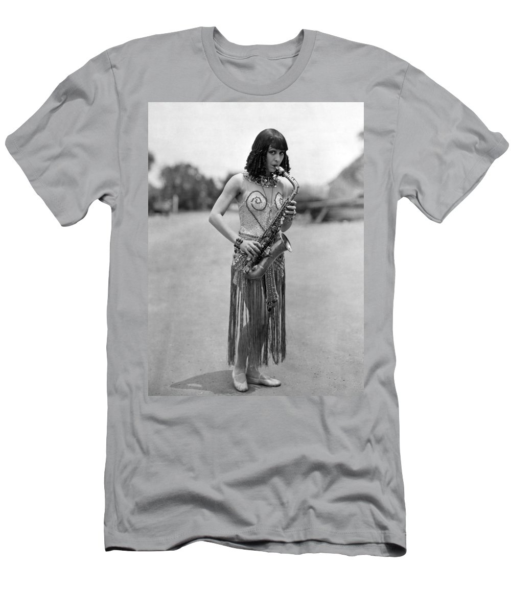 -music- Men's T-Shirt (Athletic Fit) featuring the photograph Silent Film Still: Music by Granger