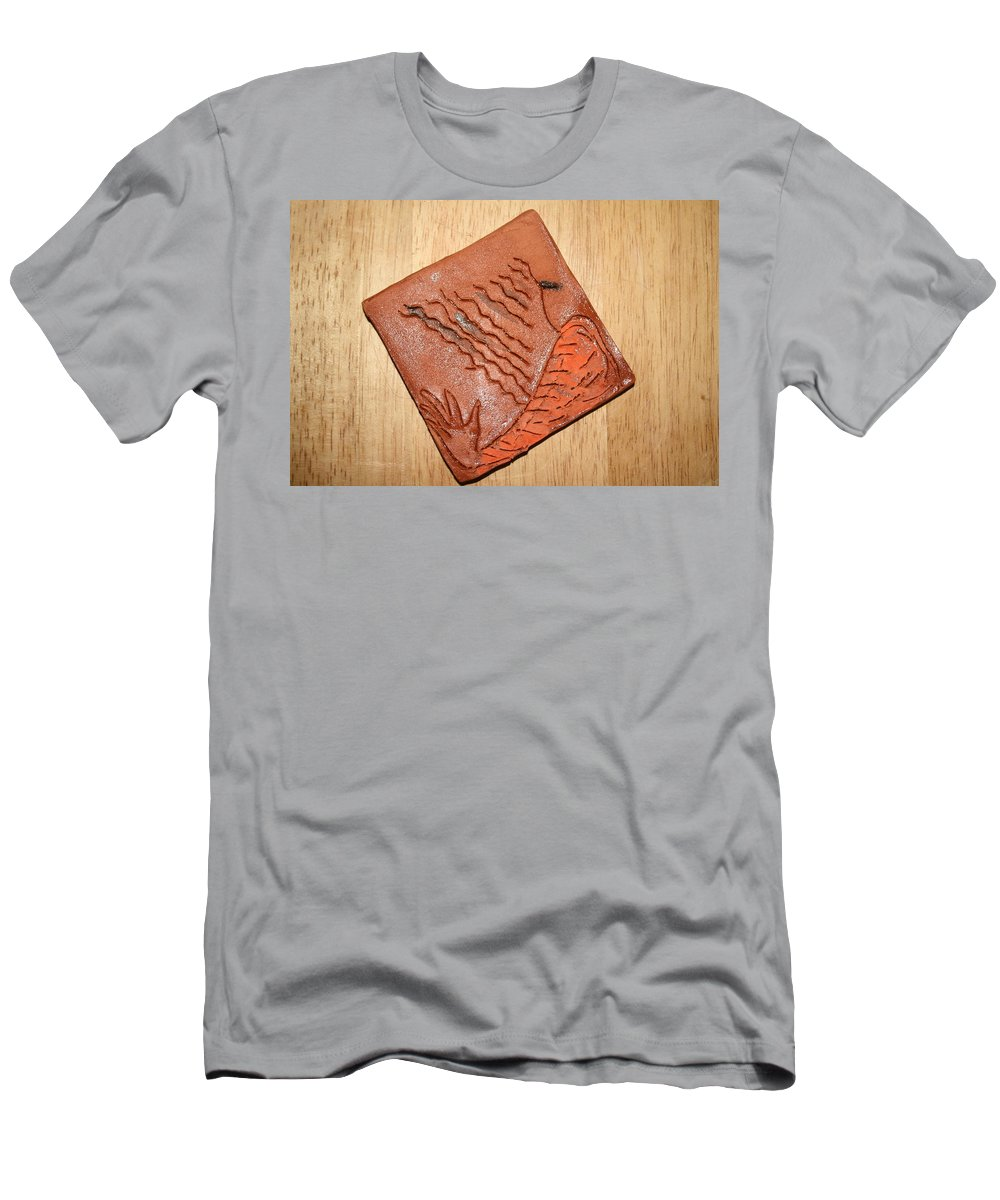 Jesus Men's T-Shirt (Athletic Fit) featuring the ceramic art Sleepy - Tile by Gloria Ssali