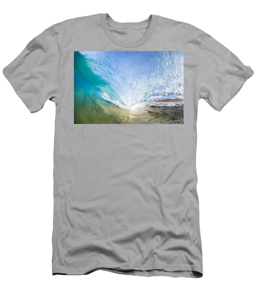 Amazing Men's T-Shirt (Athletic Fit) featuring the photograph Wave Breaking On Makena Shore by MakenaStockMedia - Printscapes
