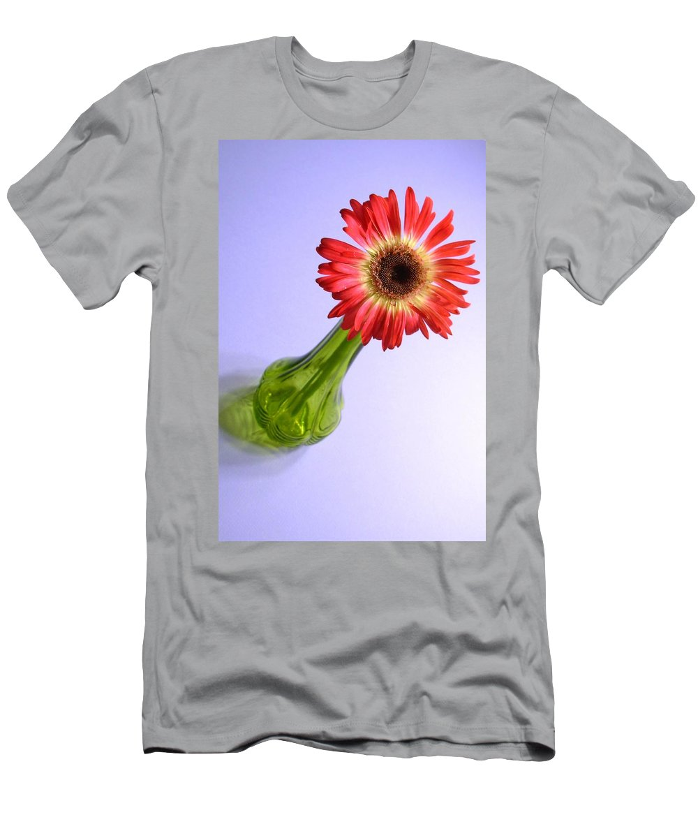 Gerbera Photographs Men's T-Shirt (Athletic Fit) featuring the photograph 2200c2-002 by Kimberlie Gerner