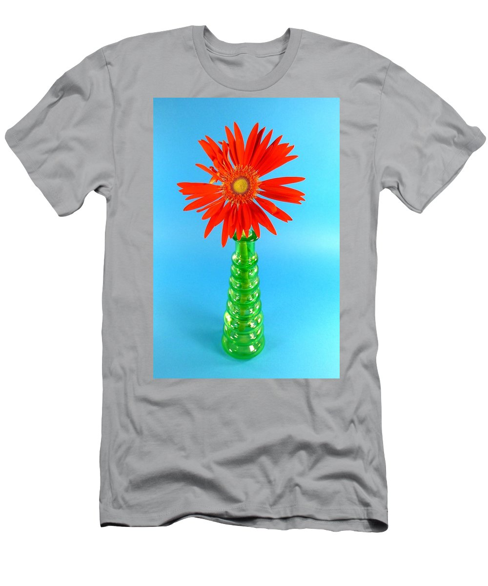 Gerbera Photographs Men's T-Shirt (Athletic Fit) featuring the photograph 2277c2-001 by Kimberlie Gerner
