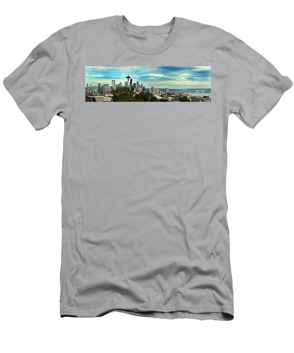 America Men's T-Shirt (Athletic Fit) featuring the photograph Seattle by Paul Fell