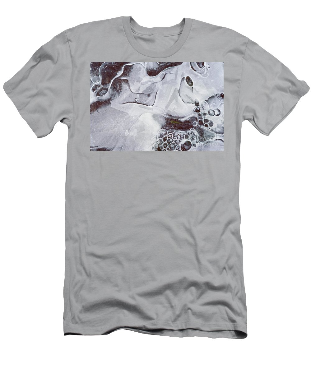 Texture Men's T-Shirt (Athletic Fit) featuring the photograph Texture Of Ice by Michal Boubin