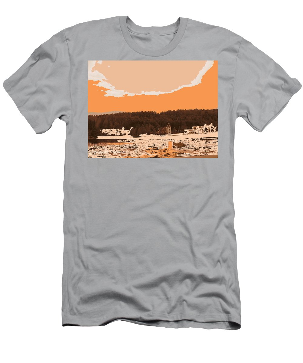 Augusta Stylianou Men's T-Shirt (Athletic Fit) featuring the digital art Norway Landscape by Augusta Stylianou