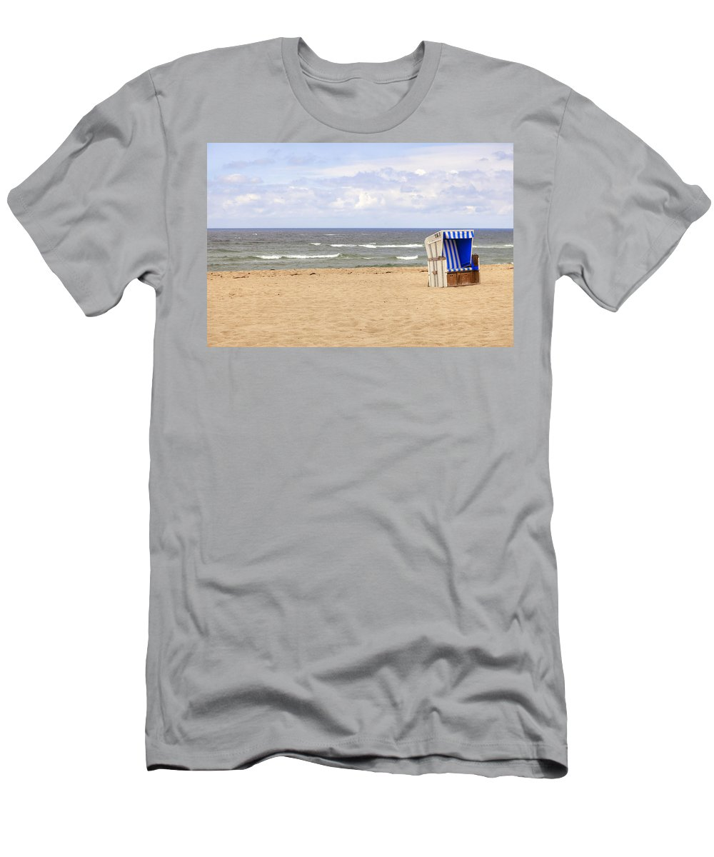 Beach Chair Men's T-Shirt (Athletic Fit) featuring the photograph Beach Chair by Joana Kruse