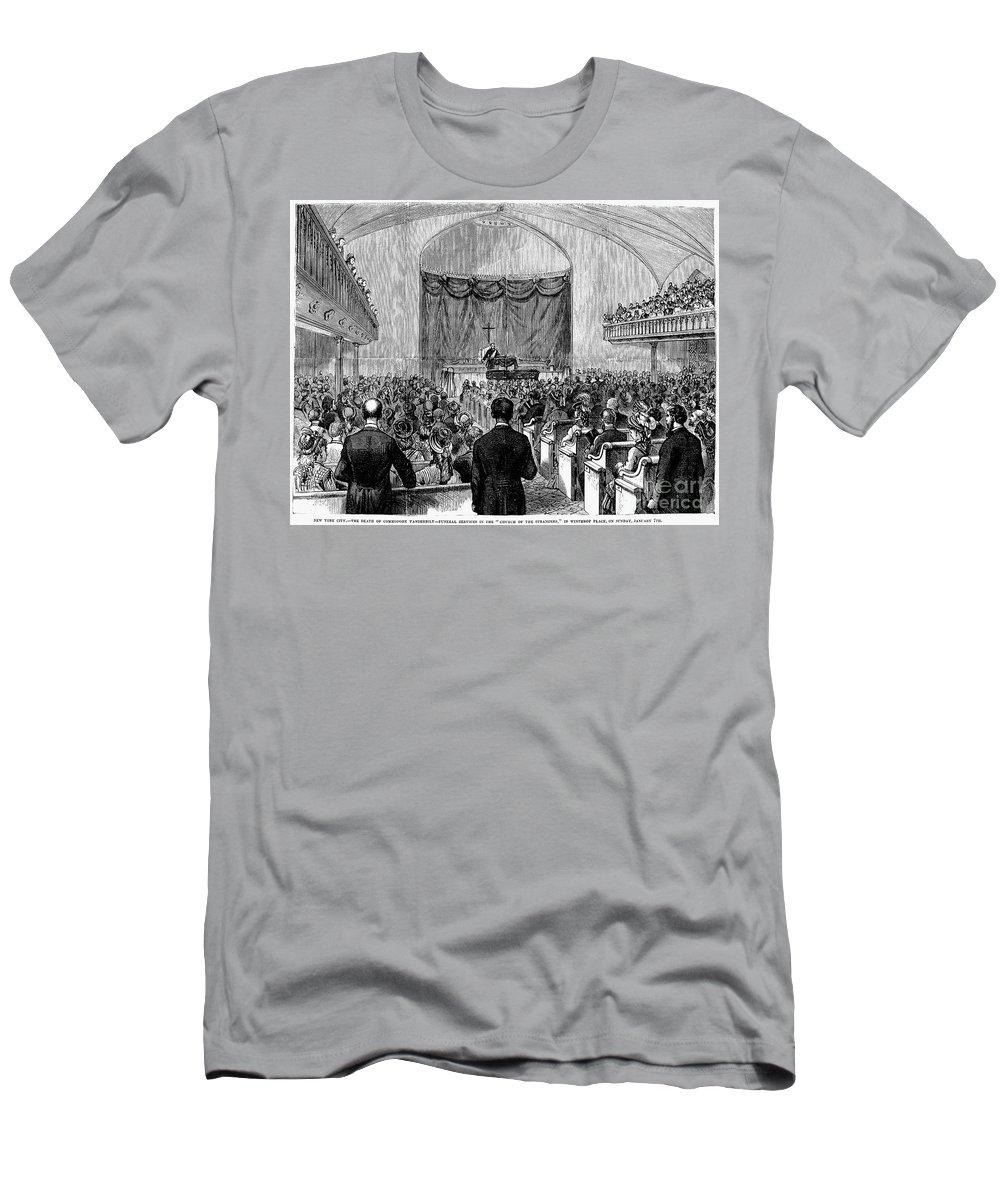 1877 Men's T-Shirt (Athletic Fit) featuring the photograph Cornelius Vanderbilt by Granger