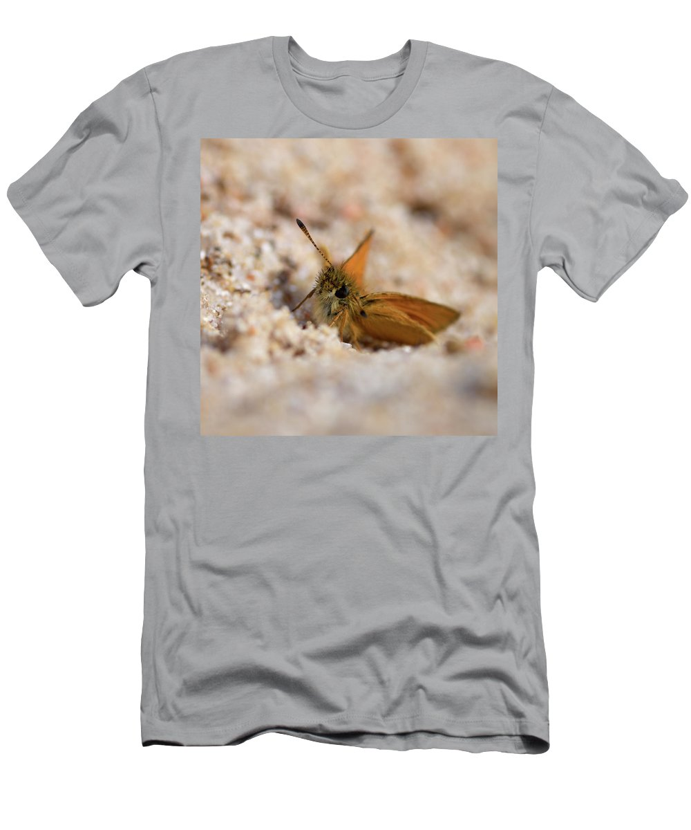 Lehtokukka Men's T-Shirt (Athletic Fit) featuring the photograph European Skipper by Jouko Lehto